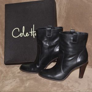 Cole Haan Leather Booties like new